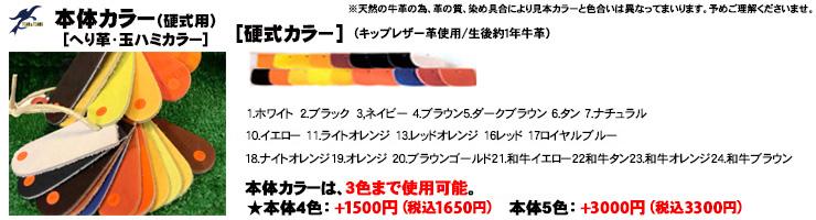 硬式オーダーグローブ ソフトボールオーダーグローブ 本体カラー 玉ハミ